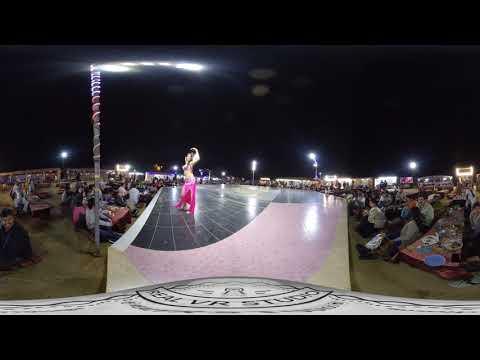 Explore Dubai Safari | Fire Show | Belly Dance Show | VR 360° Travel Video