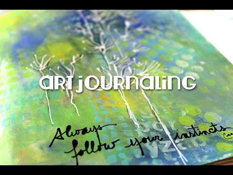 art journaling : always follow your instincts