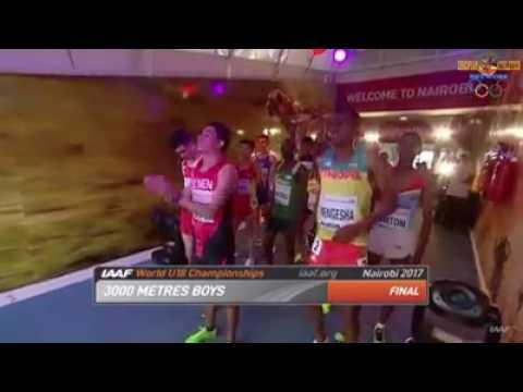 2017 IAAF WORLD U18 Championship Nairobi, Men's 3000m Race.