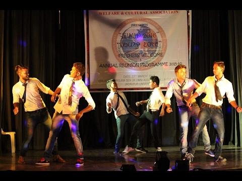 New santali dance performance - Mocha Alom Gosoya - JUMID 2K16 @JU