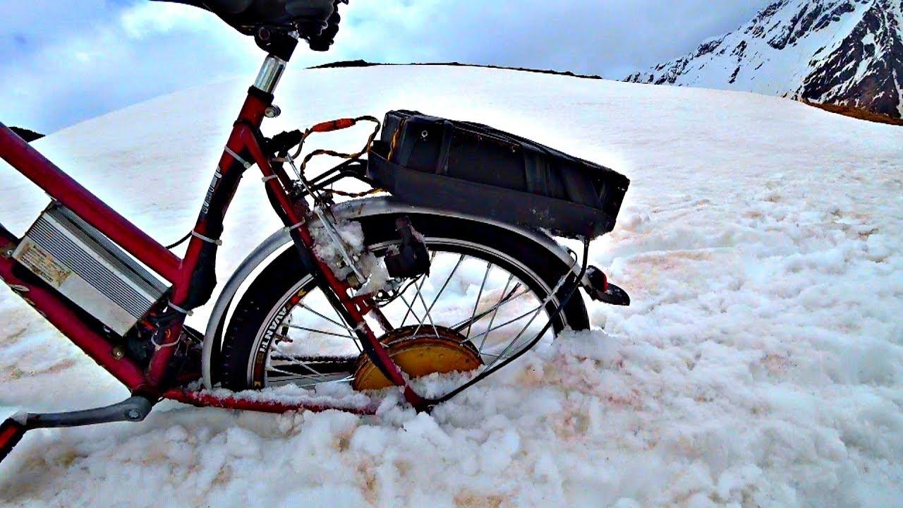 ✅Сорвался с горы ????  Жесткий тест Мотор Колес на Эльбрусе ⚡ Провалился электро велосипед