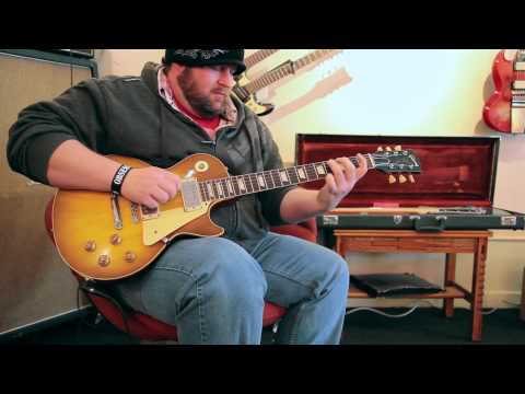 Chris Heart plays a 1959 Gibson Les Paul Standard at Rumble Seat Music Southwest