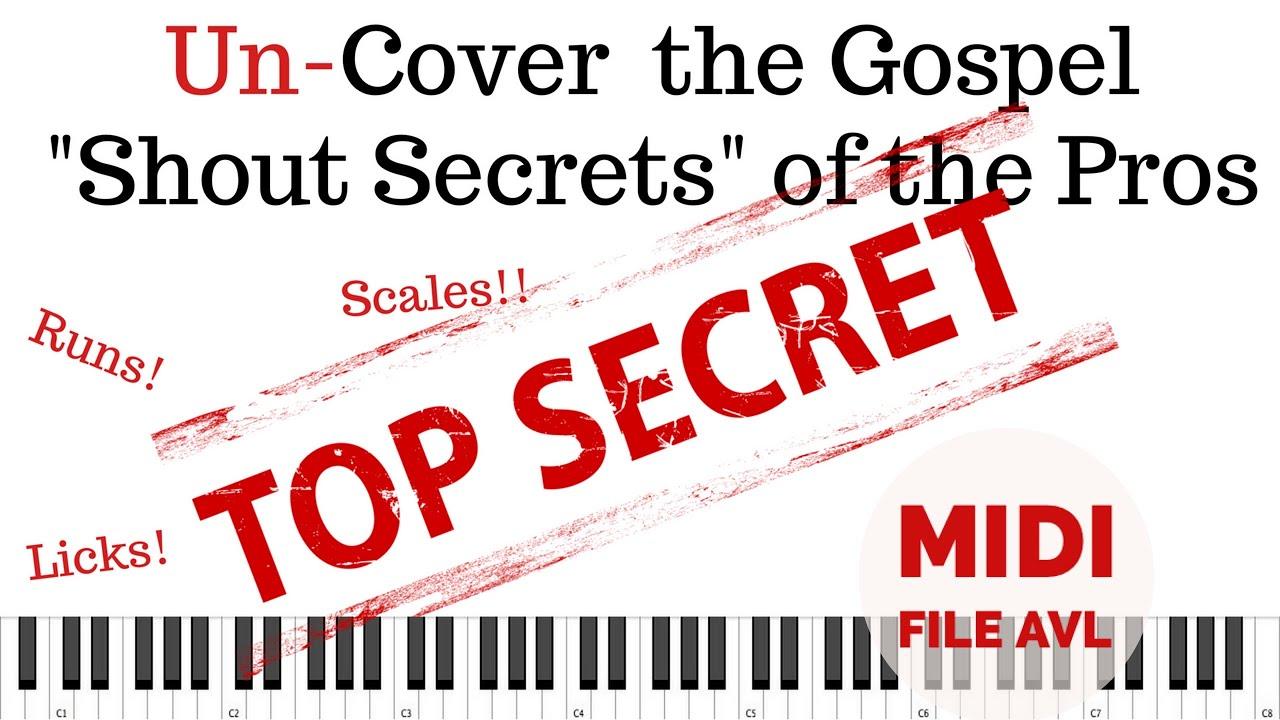 Gospel Shout Secrets, Chords, Licks, and Runs with Glenn Gibson on Organ |  Transcription + MIDI File