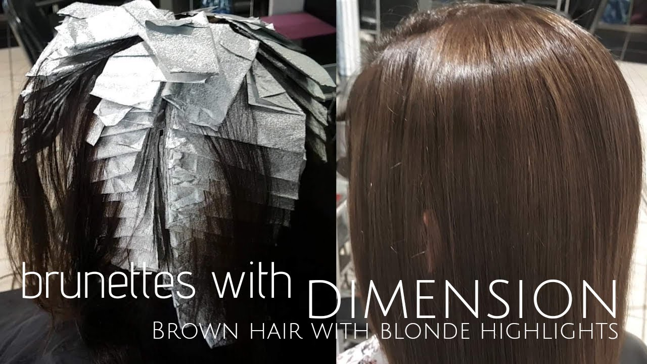 Brown Hair With Blonde Highlights To Blend Grey Hair Youtube