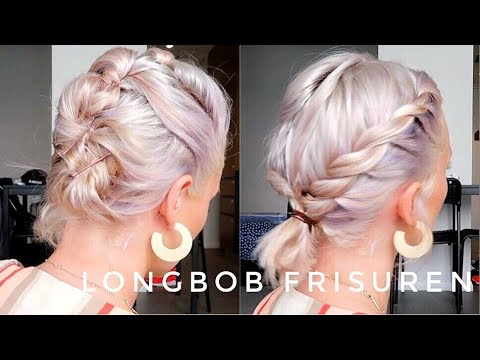 Long bob frisuren hochstecken