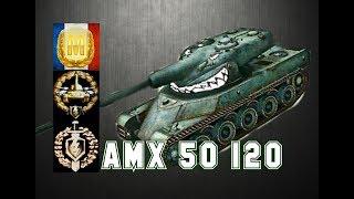 AMX 50 120 #3 World of Tanks Blitz Aced gameplay +5400 DMG