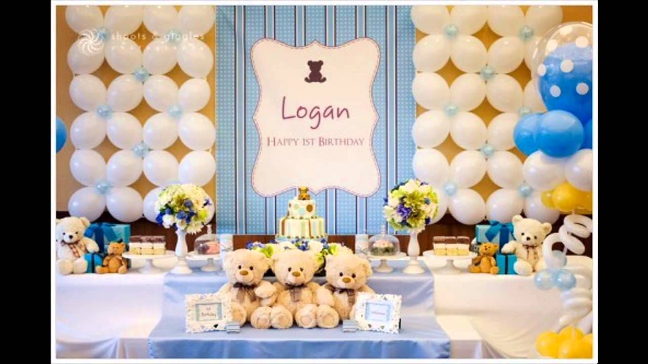 Awesome 1st Birthday Decoration Ideas At Home Part - 1: 1st Birthday Party Themes Decorations At Home For Boys - YouTube