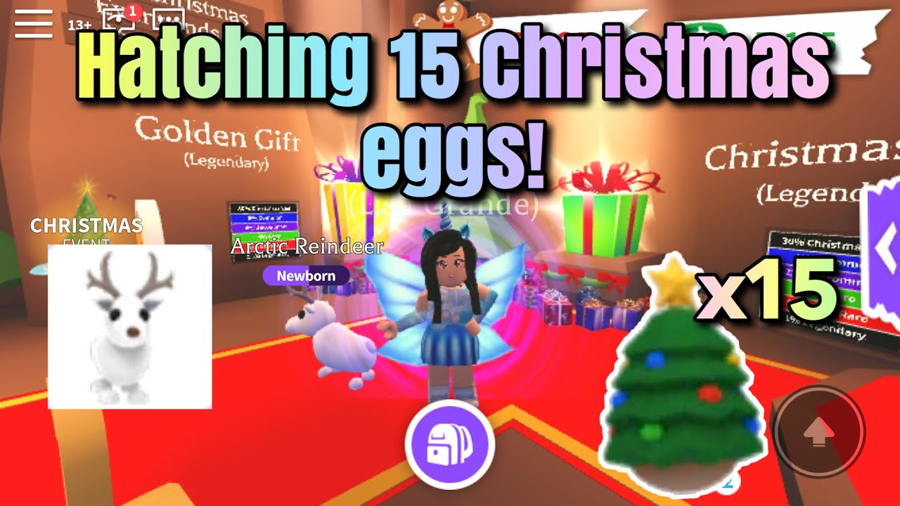 Hatching 15 Christmas Eggs In Roblox Adopt Me!   So Many New Pets! - YouTube