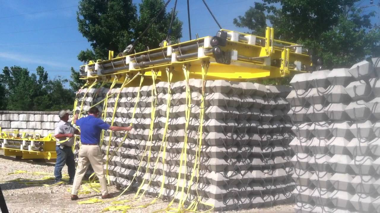Waskey Precast Articulated Mats Looping Straps For Lift