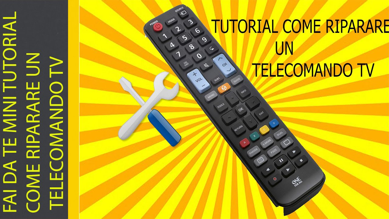 Porta Telecomandi Tv.Fai Da Te Mini Tutorial Come Riparare Un Telecomando Tv