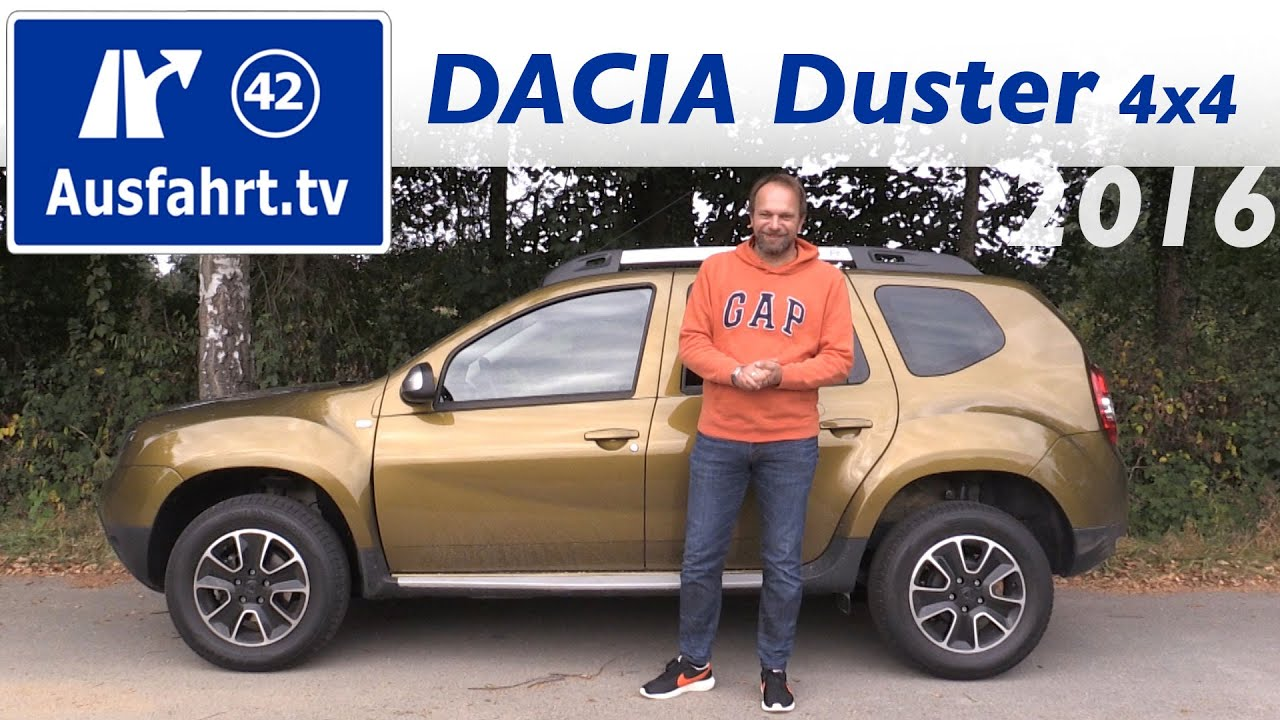 2016 Dacia Duster dCI 110 4x4 - Fahrbericht der Probefahrt, Test, Review (Ausfahrt.tv)