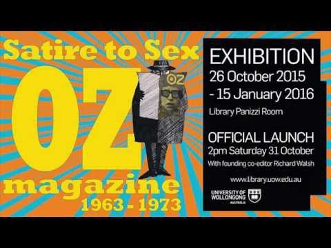 Satire to Sex OZ Magazine Exhibition Launch