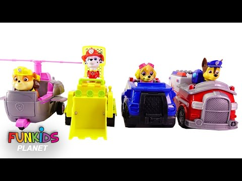 Thumbnail: Learning Colors Video for Kids: Paw Patrol Switch Vehicles! Boss Skye, Chase, Marshall Rubble