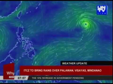 ITCZ to bring rains over Palawan, Visayas, Mindanao
