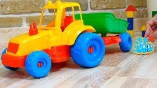 Мультфильм про динозавров. Игрушки для детей. Машинки и Динозавры