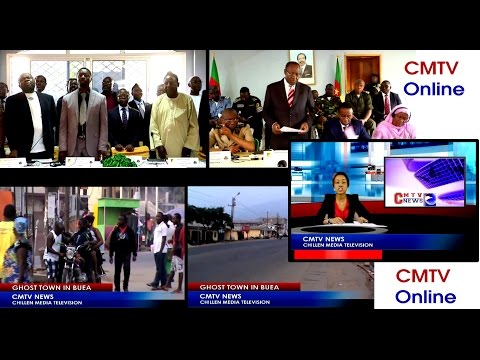 CMTV NEWS 16 January 2017_Ghost Town and Strike in Cameroon