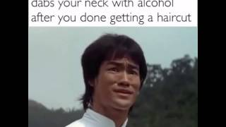 Video how you react when yo barber dabs you neck with alcohol after you done getting a haircut download MP3, 3GP, MP4, WEBM, AVI, FLV April 2018