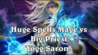 [Hearthstone] Huge Spells Mage vs Big Priest - Yogg Saron