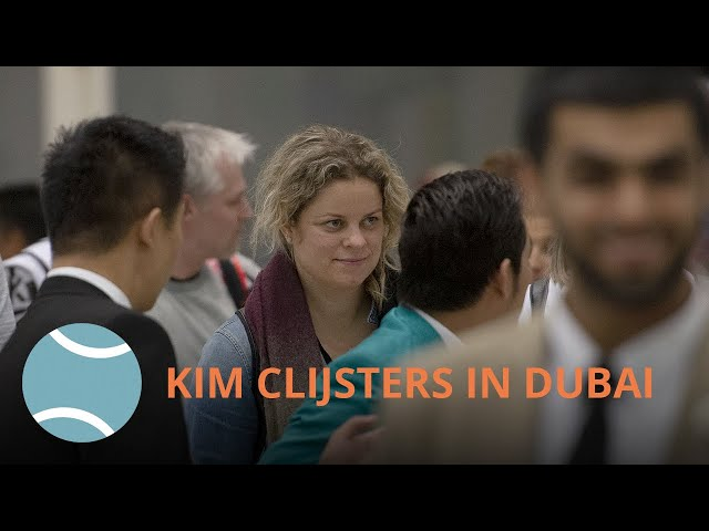 Kim Clijsters arrives in Dubai