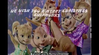 We wish you a merry Christmas Lyrics - Chipmunks