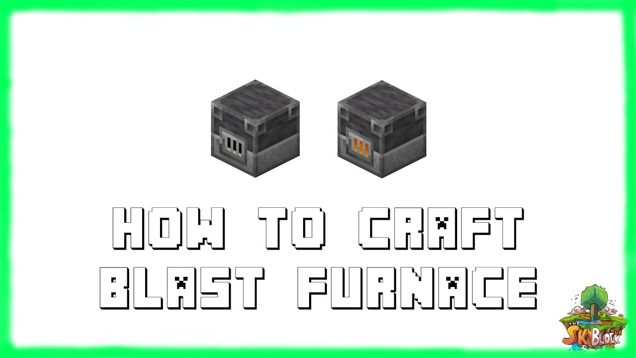 Minecraft 1 16 4 How To Craft A Blast Furnace 2021 Youtube