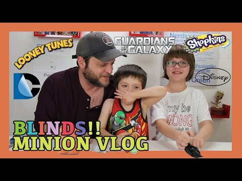 Opening Blinds (Minion Vlog) Shopkins, Looney Tunes, DC, Disney- Day 943 | ActOutGames