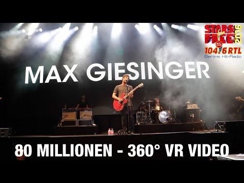 Max Giesinger - 80 Millionen | LIVE bei STARS for FREE 2016 | 360° Video
