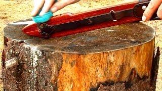 Ножны для ножа или тесака. Как сделать ножны из паркета.