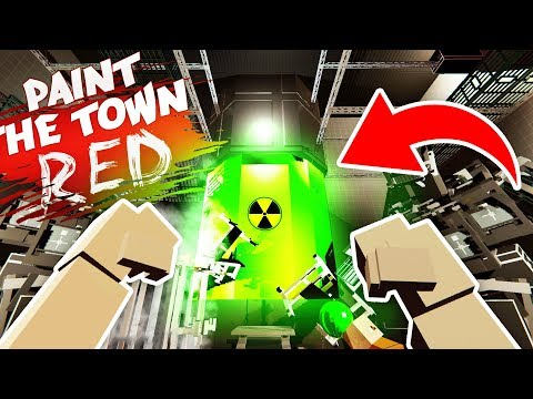 CAN WE STOP THE NUCLEAR ROBOT FACTORY? (Paint the Town Red Funny Gameplay)