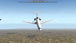 ввод Ту154М в штопор в X-Plane