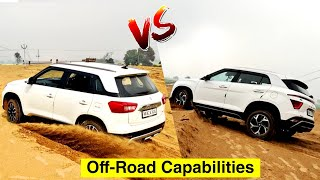Brezza and Creta Going Off the Road | Which One is better ? | Petrol Cars | Mechanical Jugadu