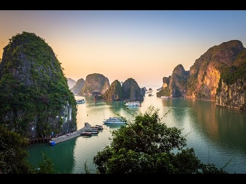THE MOST AMAZING DRONE FOOTAGE OF HALONG BAY VIETNAM - VLOGGING IN  VIETNAM