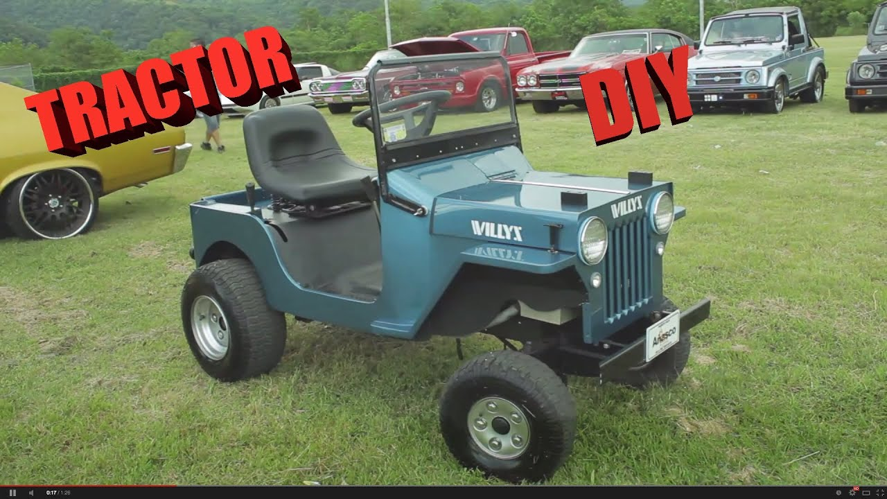 Jeep Lawn Mower >> Handmade 1953 Willys Jeep Tractor homemade - YouTube