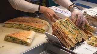Cheese Scallion Pancake / 蔥花起司大餅 - Taiwanese Street Food