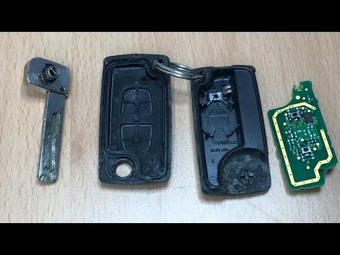 peugeot and citroen flip keys - choose correct case - youtube