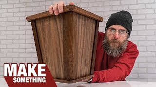 How to Make a Wood Wastebasket Bin // Woodworking Project