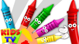 crayons Finger Family Song | Nursery Rhymes for kids | rhymes for toddlers | kids tv song thumbnail
