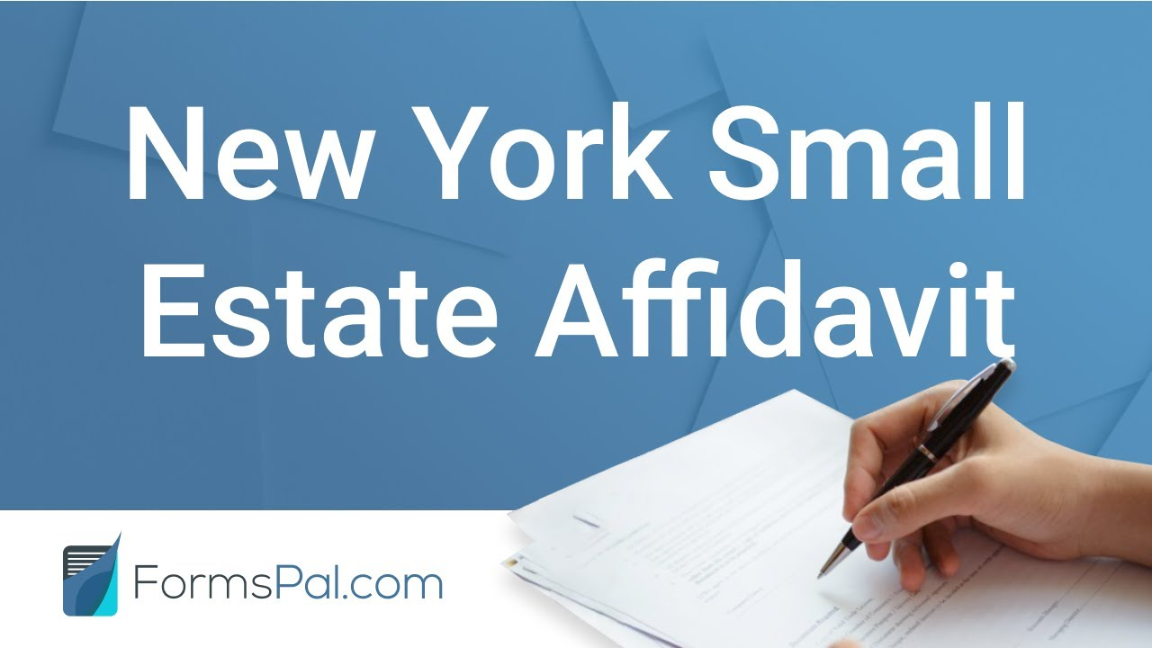 Free New York Small Estate Affidavit Form PDF   FormsPal