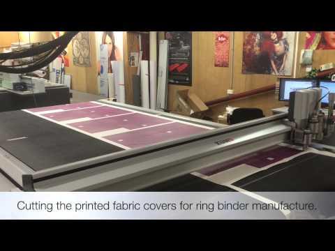 Making Ring Binders With Digital Printed Covers.