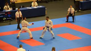 RAFAEL AGHAYEV  vs LUIGI BUSA, Semifinal, Karate European Championship 2018,  75kg