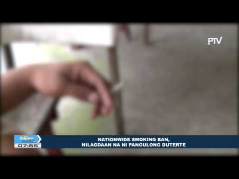 Nationwide Smoking Ban, nilagdaan na ni Pangulong Duterte