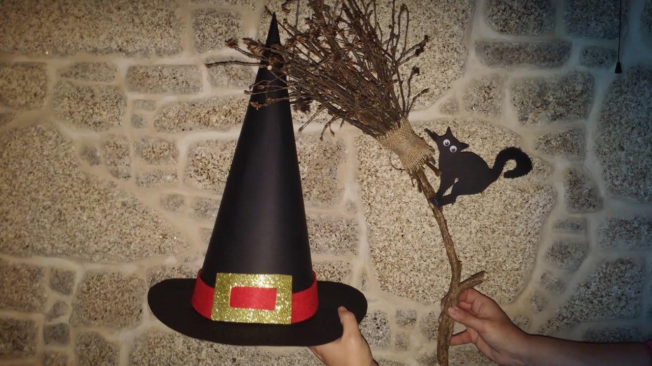 84502f84f6c7c Como fazer chapéu de bruxa para Halloween - DIY - witch s hat for Halloween