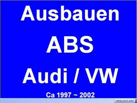 ausbau reparature abs steuergeraet vw passat audi a4 a6 a8. Black Bedroom Furniture Sets. Home Design Ideas