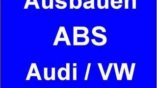 Ausbau Reparature ABS Steuergeraet VW passat Audi A4 A6 A8 0273004283 0 273 004 283 284 286 358 0273