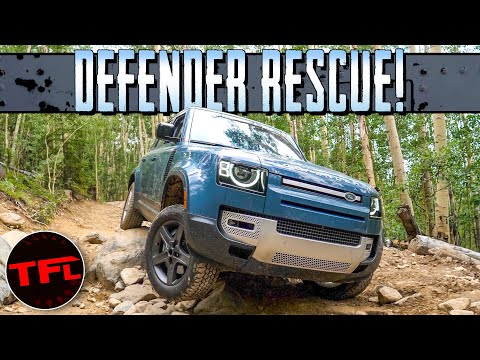 Here's How I Recover (And Almost WRECK) Our Stranded Land Rover Defender!