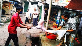 Amazing Goat Cutting Skill And Goat Skin Remove Skill - Full Goat Cutting Skill