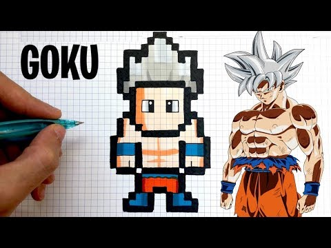 Tuto Dessin Goku Ultra Instinct Pixel Art Dragon Ball Youtube