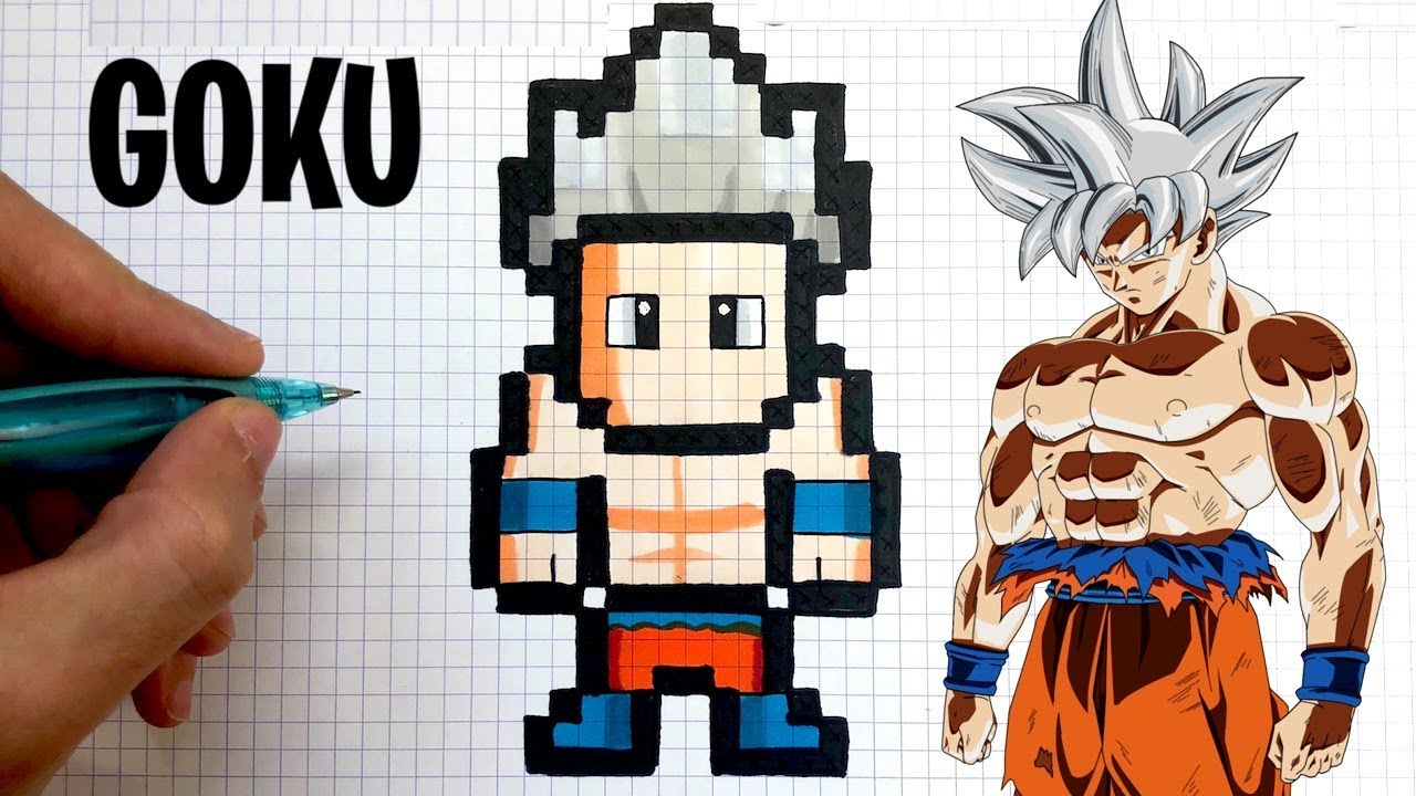 Tuto Dessin Goku Ultra Instinct Pixel Art Dragon Ball