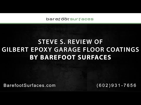 Steve S. Review of Gilbert Epoxy Garage Floor Coating by Barefoot Surfaces