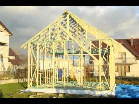 Konstrukcje Domkow Drewnianych Wood Houses Constructions Youtube